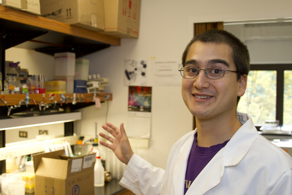 Josh Nahum in the Kerr Lab